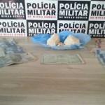 Droga apreendida pela Policia Militar (Foto da Policia Militar)