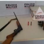 Armas apreendidas pela Policia Militar