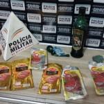Material produto de furto apreendido pela Policia Militar